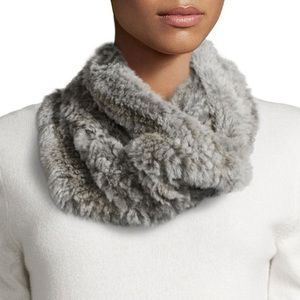 Jocelyn | Rabbit Fur Cowl Gray